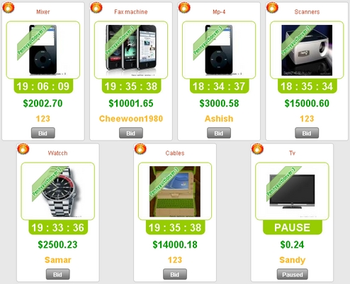Product picture working 100 Swoopo Telebid Auction Script Software Php Ajax